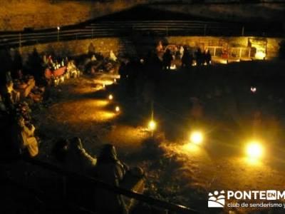 Senderismo Sierra Norte Madrid - Belén Viviente de Buitrago; senderismo material
